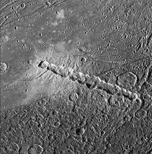 Цепочка кратеров на Ганимеде