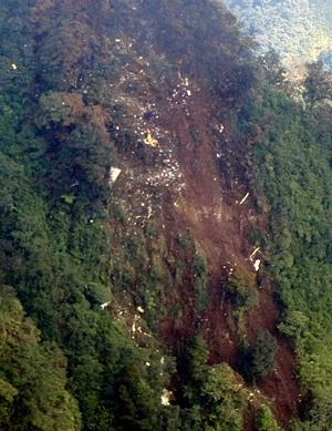 Склон горы Салак, где, по предварительной версии, разбился самолет Фото: REUTERS