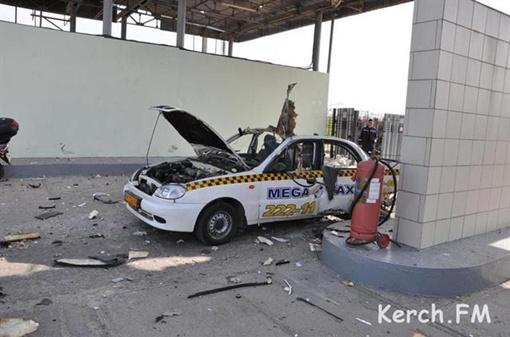 В машине мог быть установлен бракованный газовый баллон. Фото: kerch.fm
