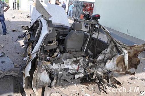 Во время взрыва в машине не было пассажиров. Фото: kerch.fm