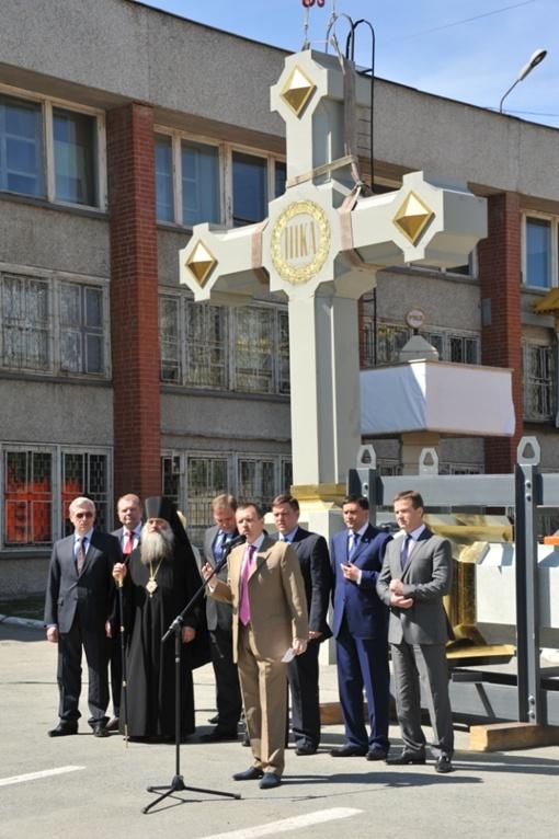 Крест отправили в Севастополь поездом. Фото предоставлено пресс-службой Екатеринбургского художественного фонда.