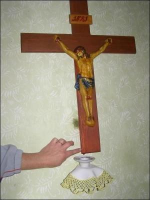 Крест мироточит уже 8 лет. Фото vsapravda.info.