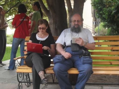 Анатолий Вассерман подсчитывает результаты. фото автора