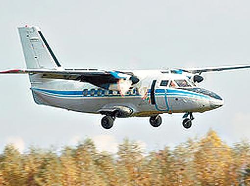 Л-410 применяется для доставки спортсменов на высоту более 4000 метров.