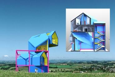 Дом-конструктор получил признание столичных архитекторов. Фото автора.