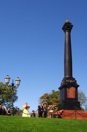 Монумент был возведен в 1891 году в честь императора Александра II