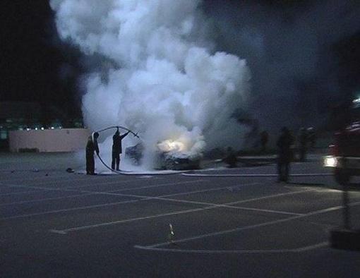 МЧСникам удалось потушить машину, но салон сгорел полностью Фото: magnolia-tv.com