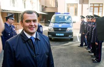 Глава МВД Виталий Захарченко открыл центр управления нарядами. Фото Алексея Кравцова.