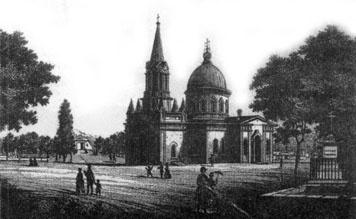 Кладбищенская церковь Всех Святых XIX века в Одессе. За ней хоронили больных.