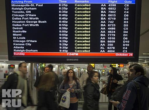 Американские авиаперевозчики были вынуждены отменить около 7,5 тысяч внутренних и международных рейсов Фото: REUTERS