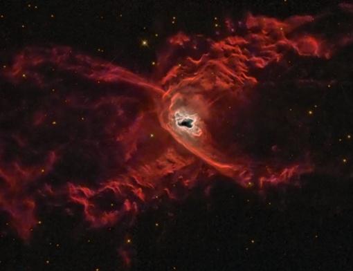 Здесь образуются новые горячие звезды, которые выделяют неимоверное количество энергии. Фото НАСА