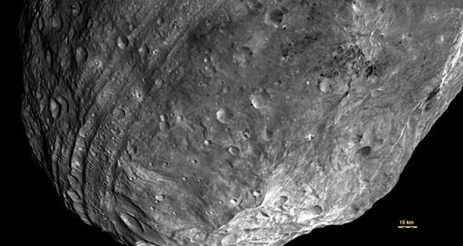 Ядро Весты состоит из железа, никеля, подобно ядрам Меркурия, Марса, Земли. Фото :Jet Propulsion Laboratory