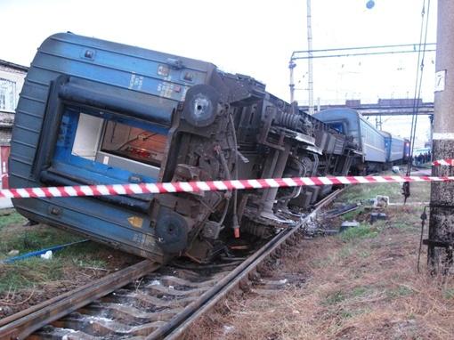 В аварии чудом никто не пострадал. Фото: ГТУ МЧС в Запорожской области