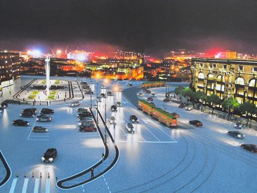 Площадь Розы Люксембург ожидает грандиозная перестройка.