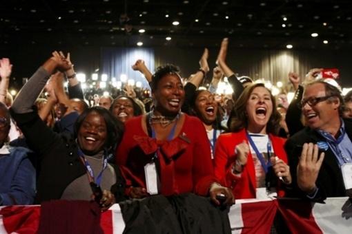 В выборном штабе Обамы Фото: REUTERS