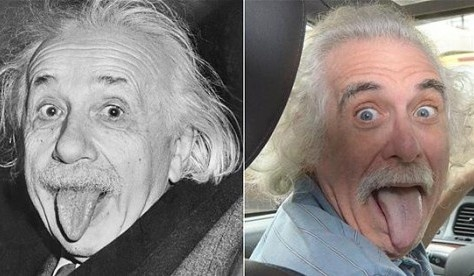 Двойник Энштейна работает таксистом в Нью-Йорке. Фото: соцсети