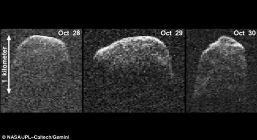 В следующий раз этот астероид прилетит через 200 лет Фото: НАСА