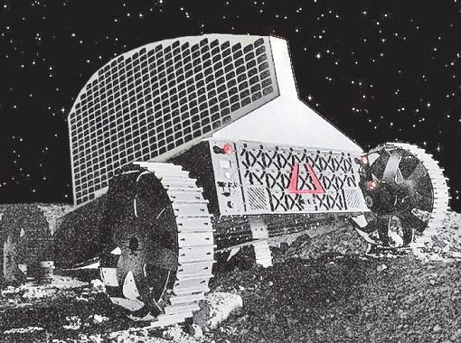 Луноход Polaris с гребнем солнечной батареи. Фото: Astrobotic.