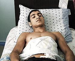 Борец Ашот Балабекян получил удар ножом в печень от своих же соотечественников.