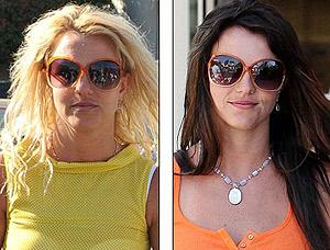 Бритни со светлыми и с темными волосами. Какая вам нравится больше? Фото: Daily Mail.