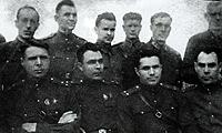 Краснодар 1943 г. Боевые товарищи Брежнев (второй слева) и (справа от него) Щелоков.