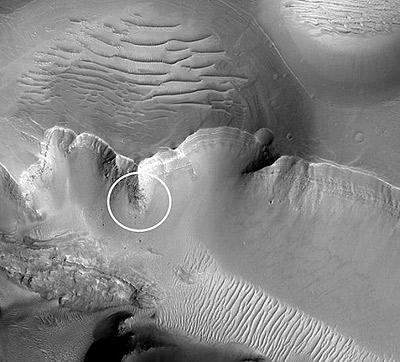 Место на Марсе, где был обнаружен монолит.