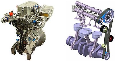 Пятитактный двигатель Ilmor мощнее и легче обычного. Фото Ilmor.