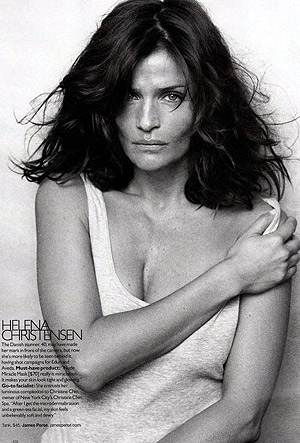 Знаменитая модель Елена Кристенсен. Фото: фото журнала Harper's Bazaar US.