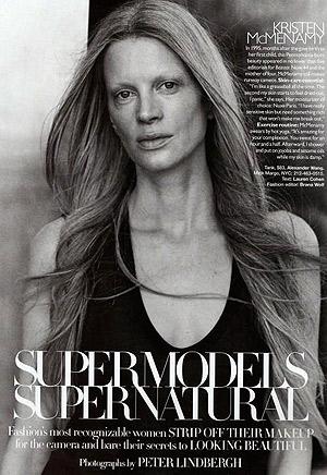 Неугомонная модель 90-ых - Кристен Макменами. Фото: фото журнала Harper's Bazaar US.