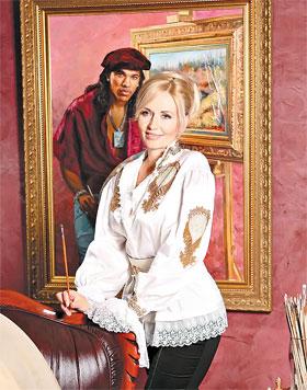Бывшего нападающего «Шахтера» Брандао Татьяна представила в образе своего коллеги-художника.
