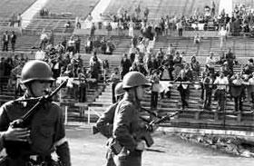 Своих противников хунта уничтожала на стадионе в Сантьяго.