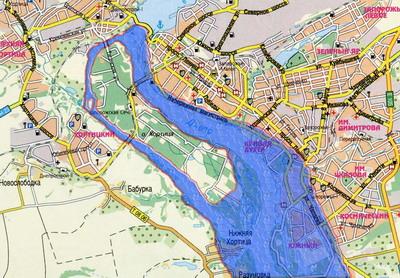 Если прорвет плотину Бабурке и правому берегу бояться нечего. Затопит частично Ленинский, Орджоникидзевский и Жовтневый, Пески  полностью.