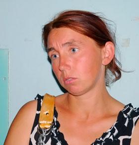 Оксана Гринь, мама пострадавших Насти и Люди.