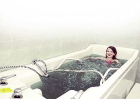 Минеральные ванны - и полезно, и приятно!