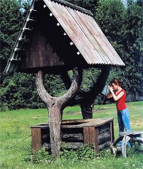Деревенский колодец напоит путника.