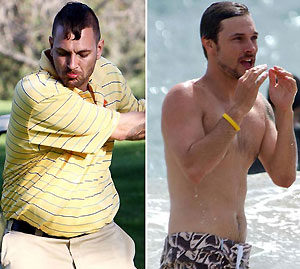 Так 31-летний Кевин выглядит сейчас (слева), а таким он был всего пять лет назад (справа). Фото: Daily Mail.