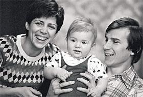 Олимпийские чемпионы с сыном Сашей. Москва, 1 сентября 1979 года.