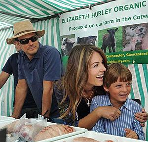 Элизабет вместе с сыном и мужем торгует мясом на сельскохозяйственной ярмарке. Фото: Daily Mail.