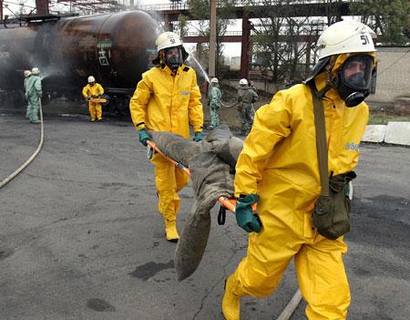 Спасатели руководствуются суворовским принципом: тяжело в учении - легко в бою.