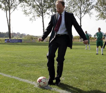 Яценюк забил гол на Куликовском поле.