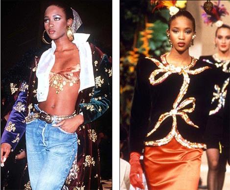 19-летняя Наоми на Лондонской неделе моды в 1989 году в начале ее карьеры. Фото: Daily Mail.
