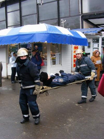 К счастью, пожарные на Конном рынке до сих пор только тренировались.