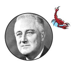 Рузвельт - пример политического успеха Скорпионов.