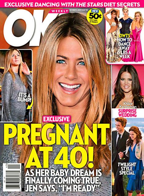 На обложке журнала ОК! у актрисы заметен животик. Фото: okmagazine.com.