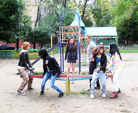 «Драка» произошла на детской площадке. Фото: официальный сайт певицы.