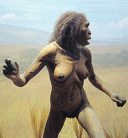 100 тысяч лет назад – худышки. Далекий предок современной женщины.