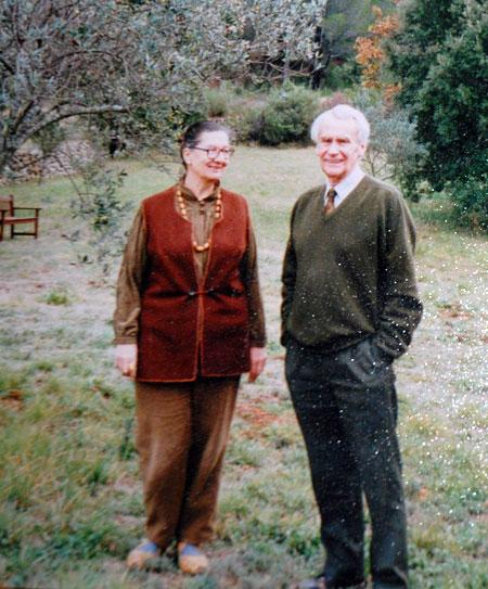 На встрече во Франции с сыном Джона Толкиена Кристофером.