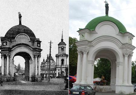 С начала ХХ века фонтан практически не изменился, чего не скажешь о площади, на которой он установлен.