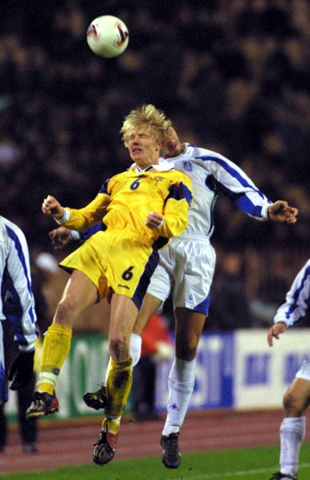 Украинцы знают, как побеждать греков: Андрей Гусин в 2005-м забил этой команде чудо-гол.