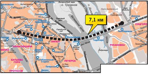 Входы в тоннель пророют на Броварском проспекте и вблизи бульвара Шевченко.